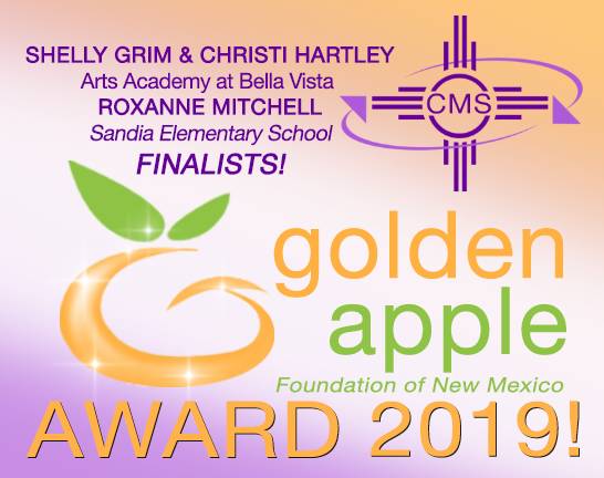 Image of text announcing GOLEN APPLE FINALISTS