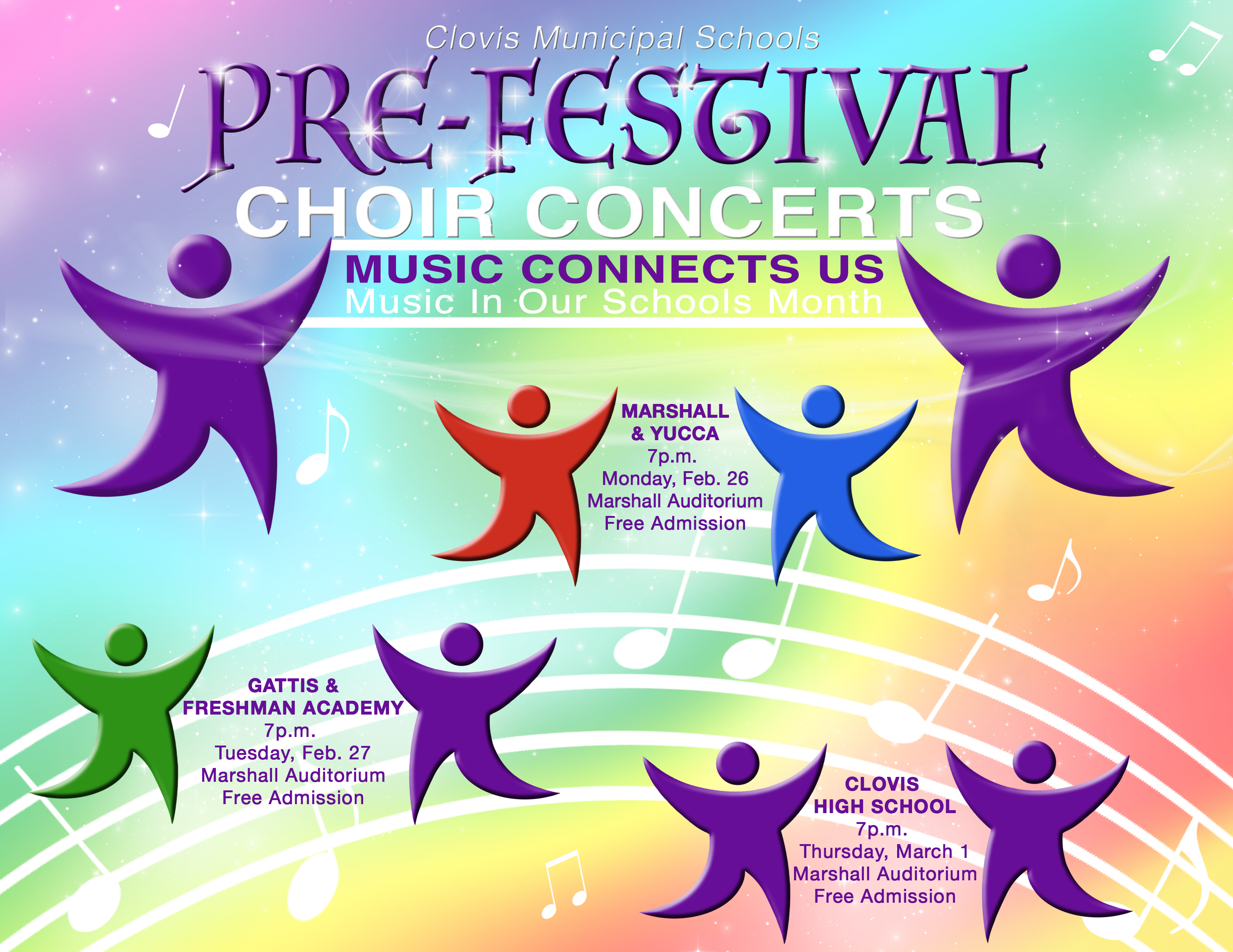 Image announcing three choir concerts