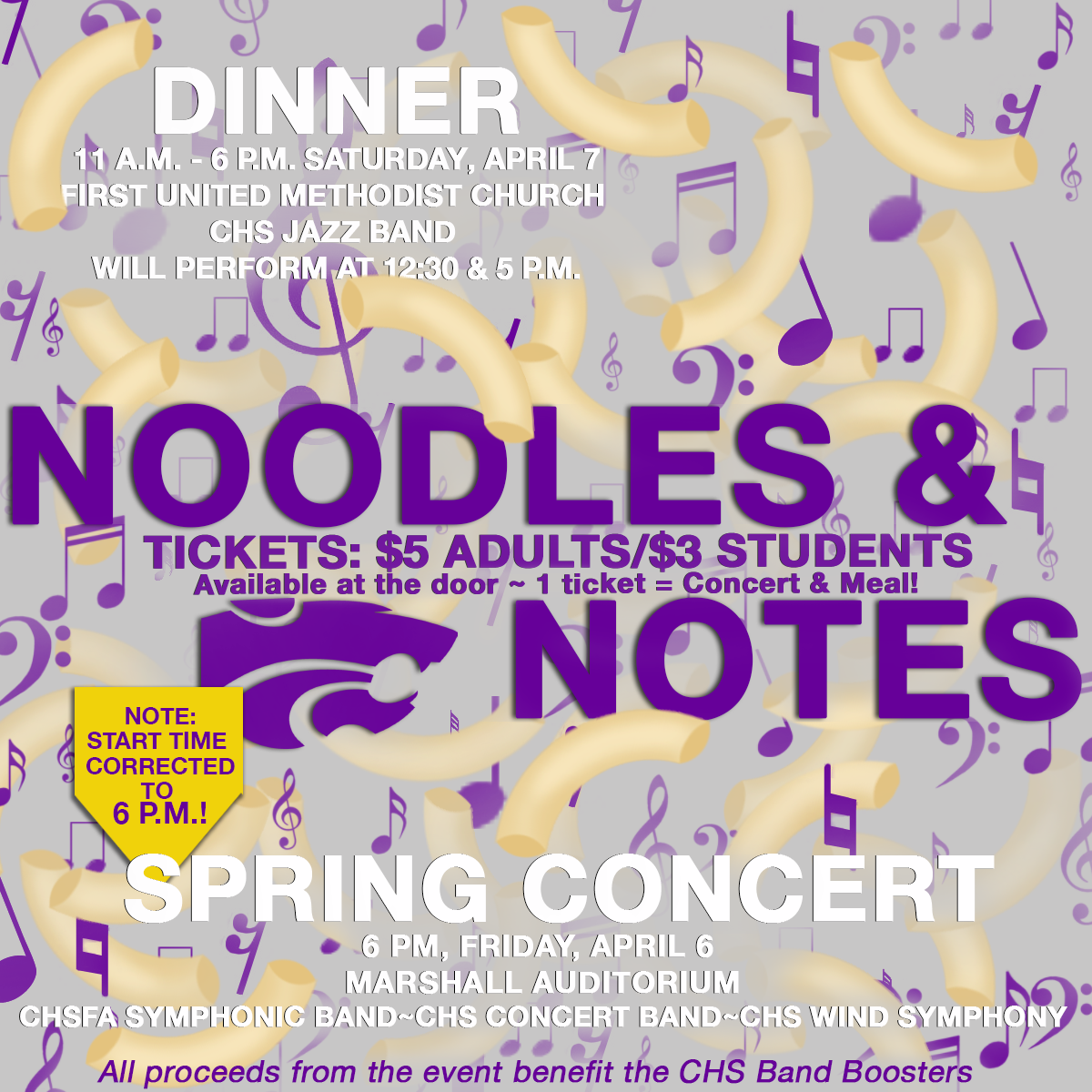 Image with text announcing 2018 Noodles & Notes