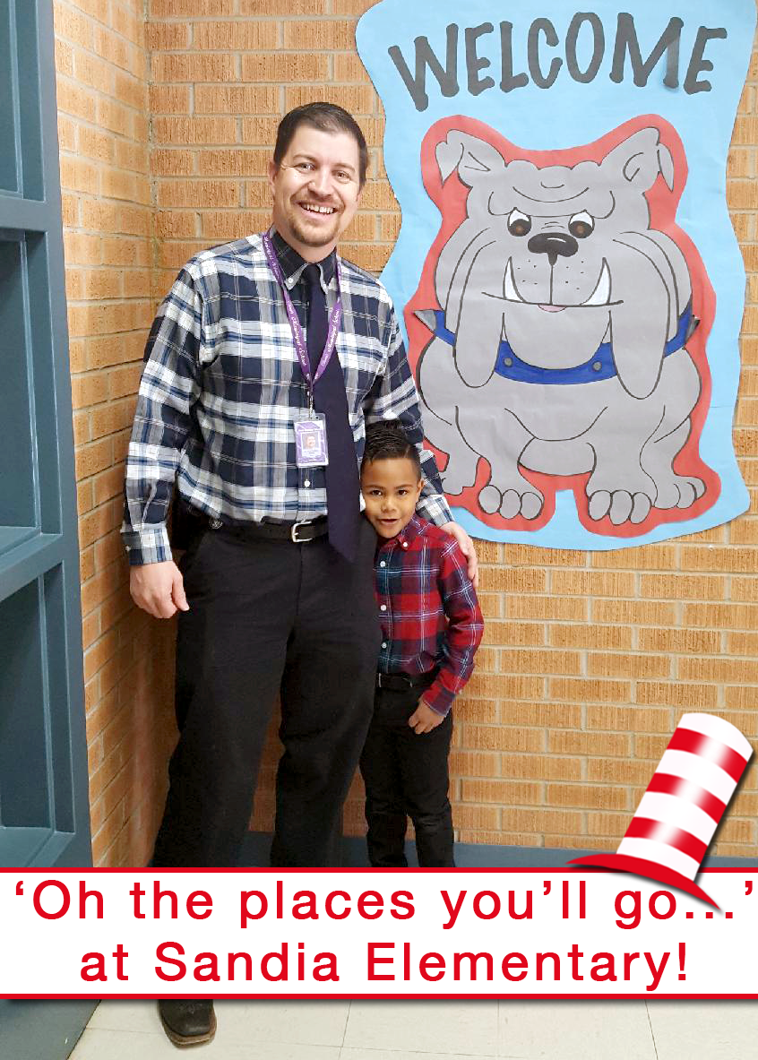 Image of Sandia principal and student