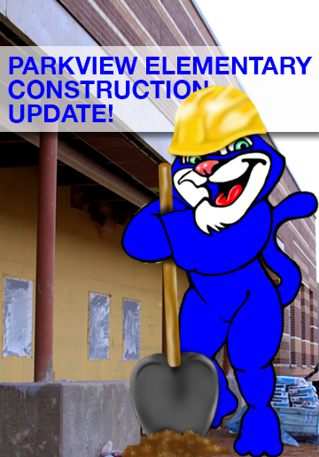Image with text announcing Parkview Construction Update
