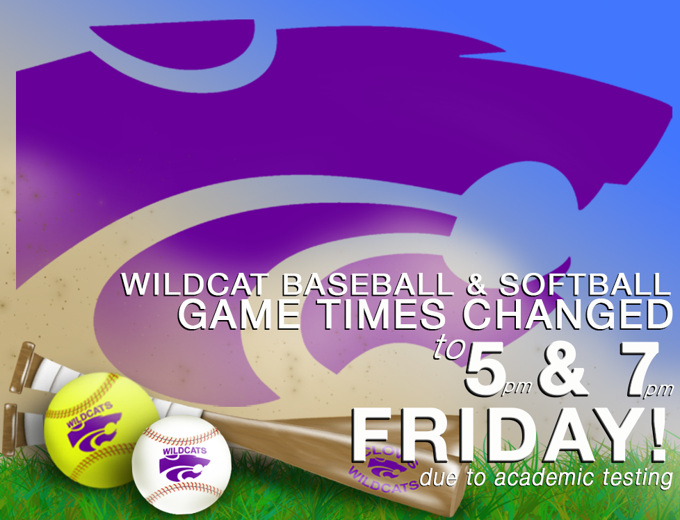 Image with text announcing changes to Friday game times