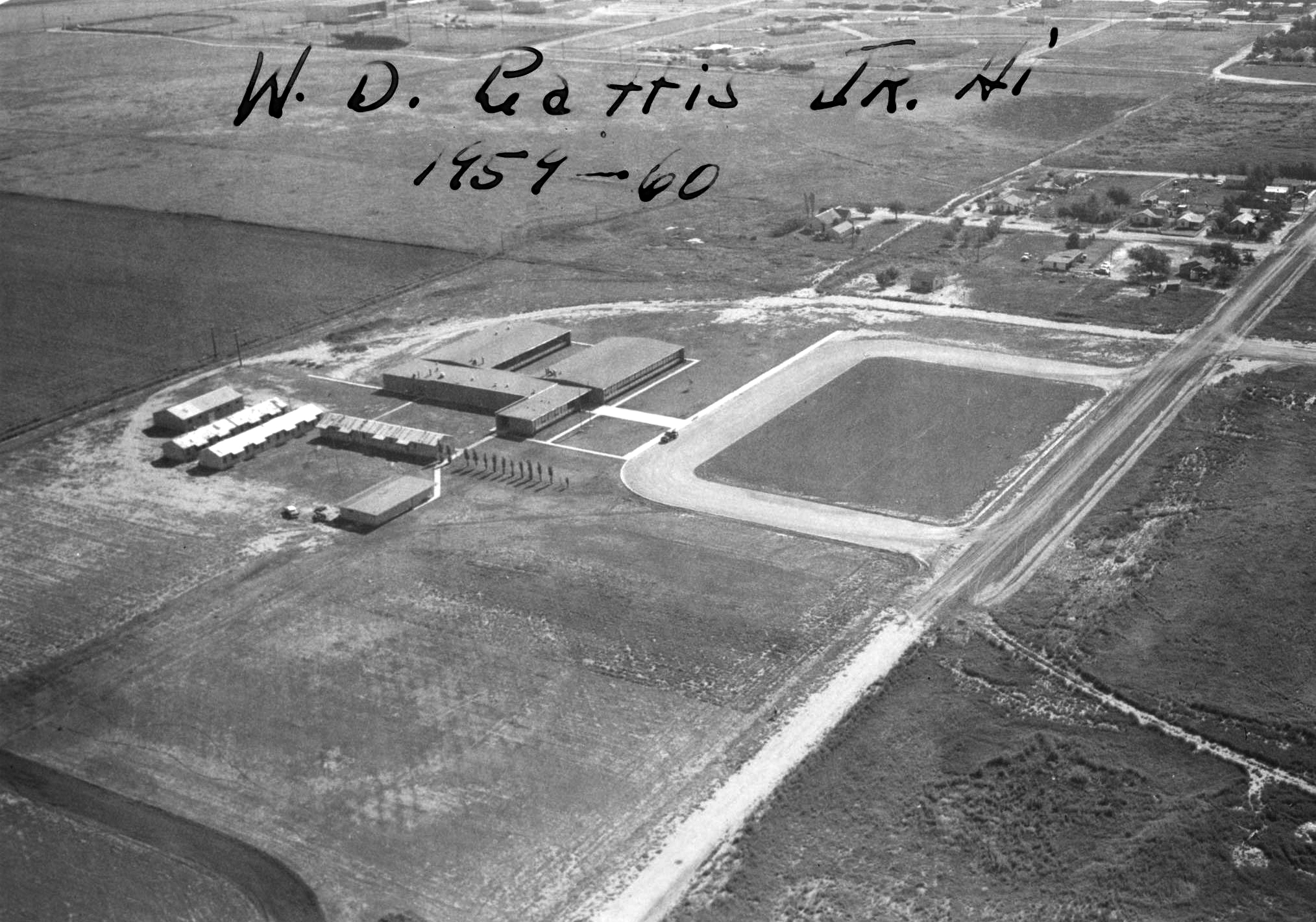 Historic photo of original Gattis Junior High School