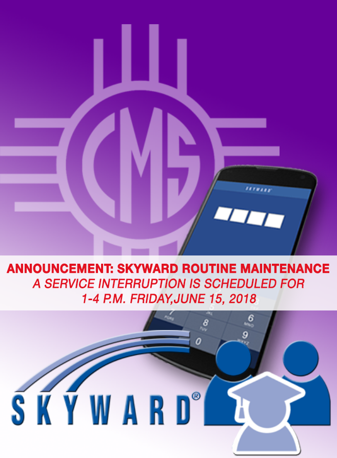 Image announcing June 15 Skyward Maintenance