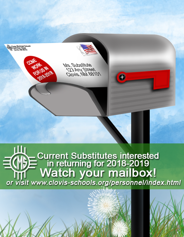 Image announcing returning substitute offer letters