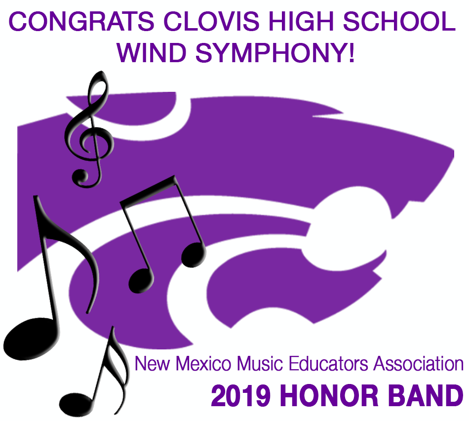 Image of text announcing Honor Band selection