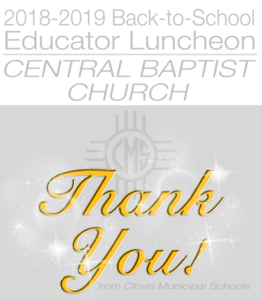 Image of thank you card to Central Baptist Church