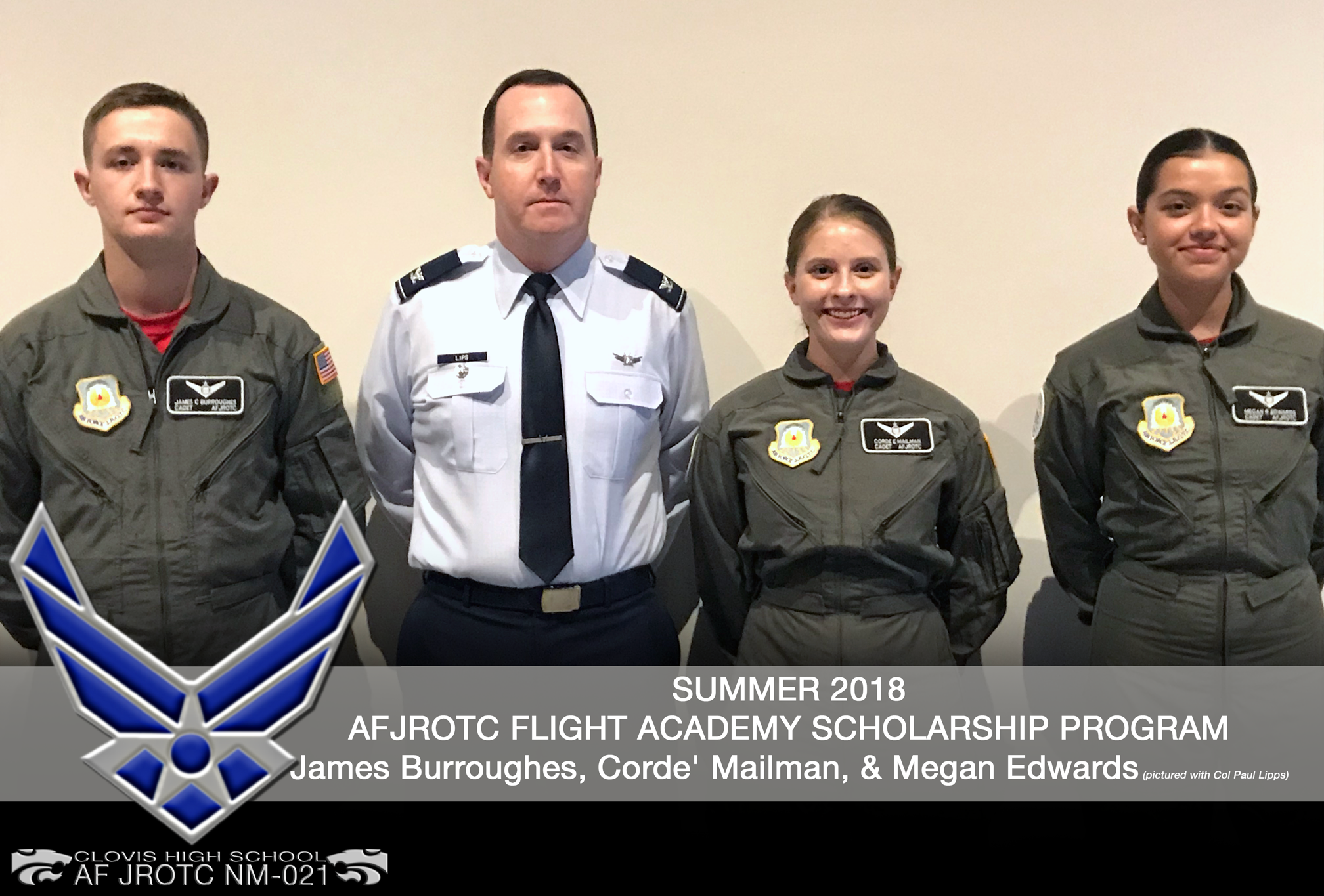 Image of recipients of Flight Academy Scholarship Program Recipients