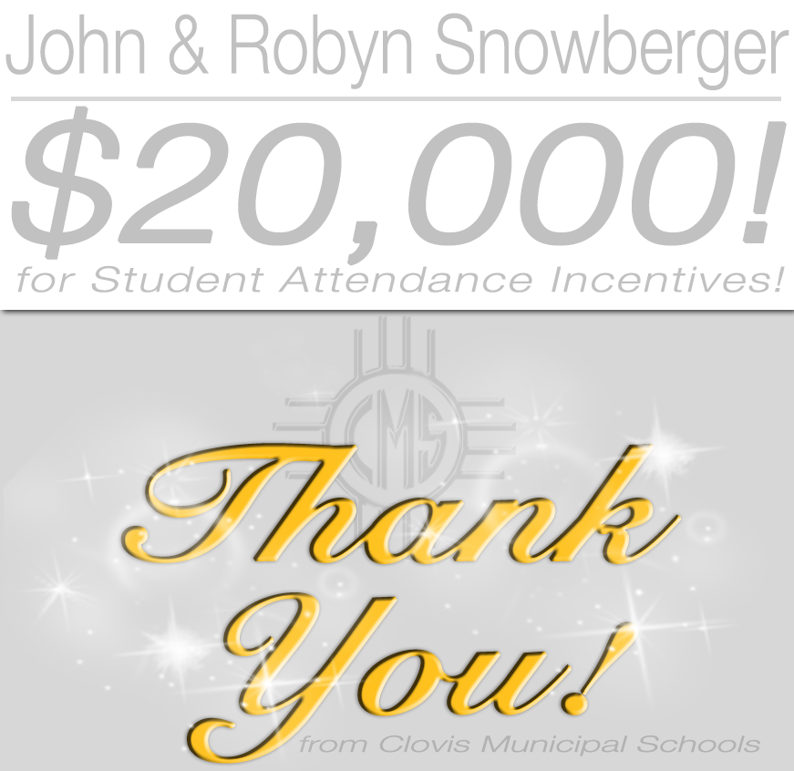 Image of text Thanking John and Robin Snowberger