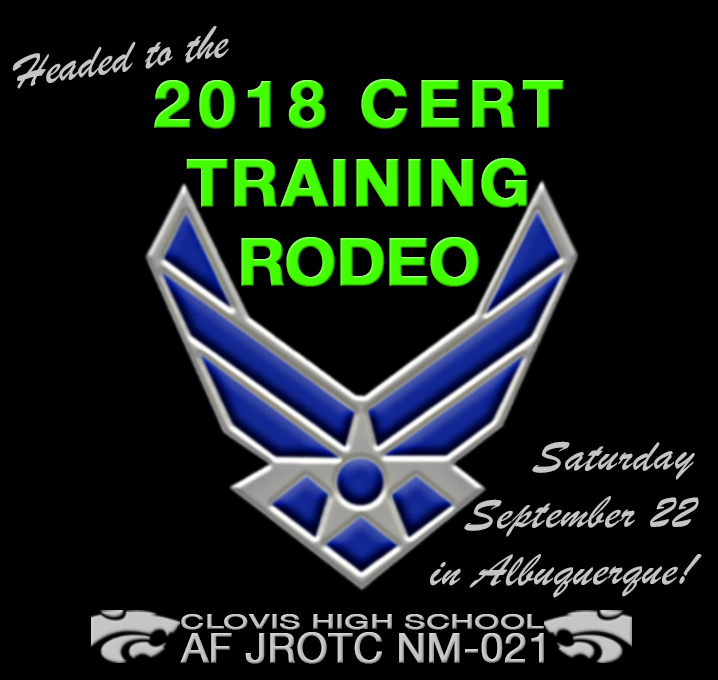 Image of text announcing ROTC participation in CERT training