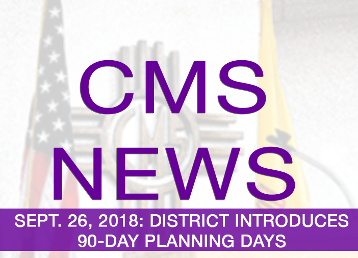 Image of text announcing 90-DAY PLANNIN DAYS