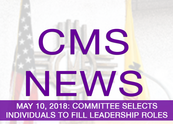 Image with text announcing selection of four for leadership roles