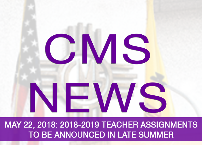 Image announcing teacher assignments in late summer