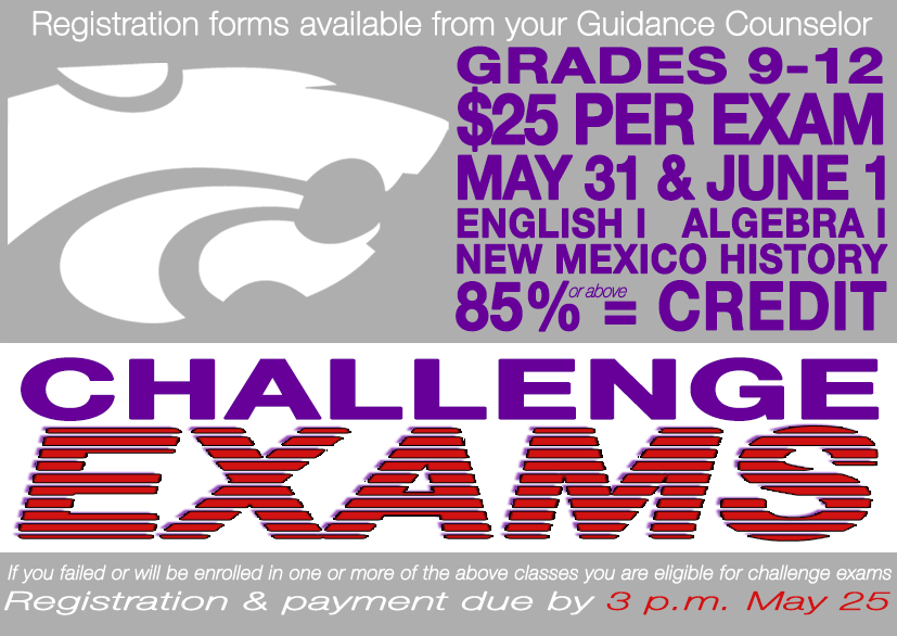 Image announcing Challenge Exam Registration Deadline