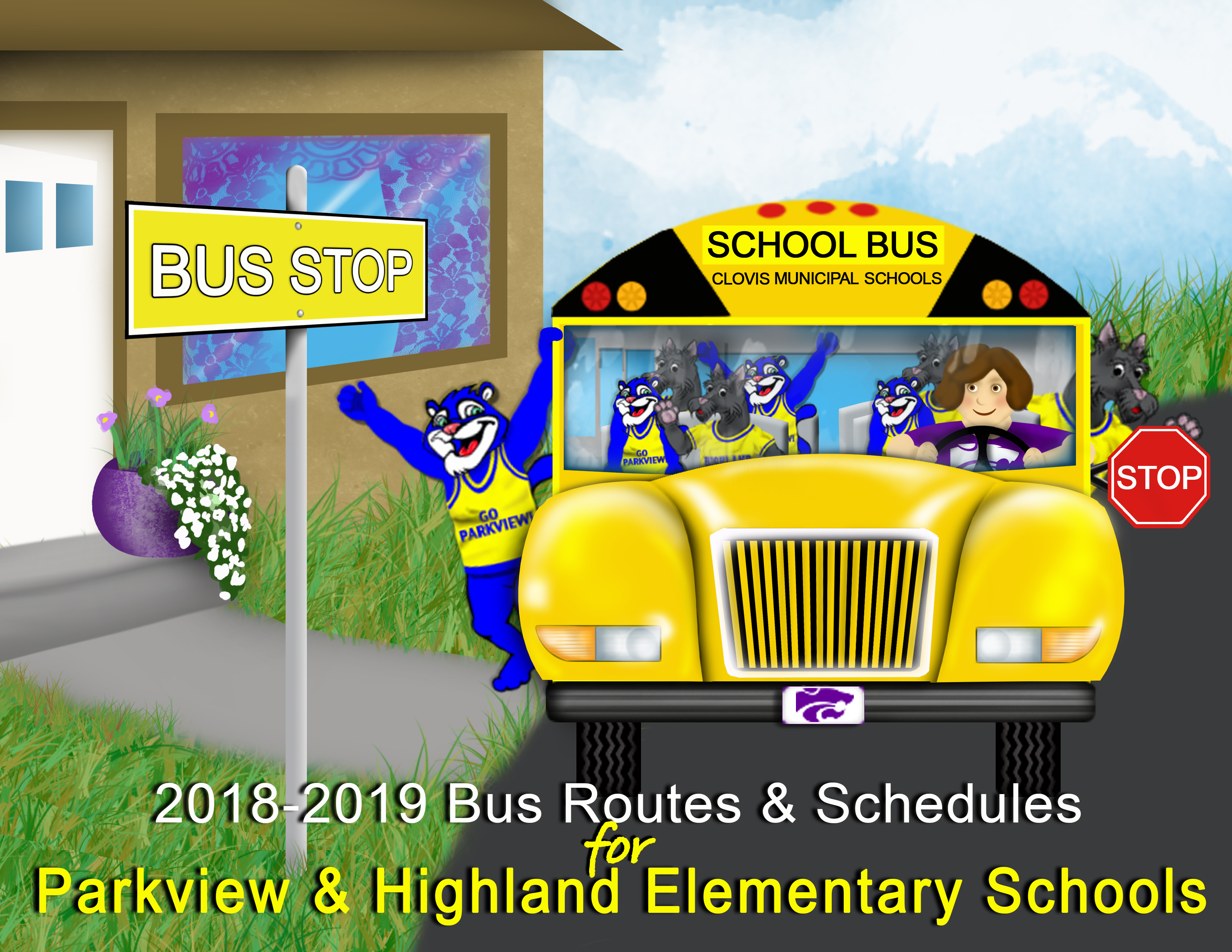 Image announcing new bus routes and schedules for Highland and Parkview
