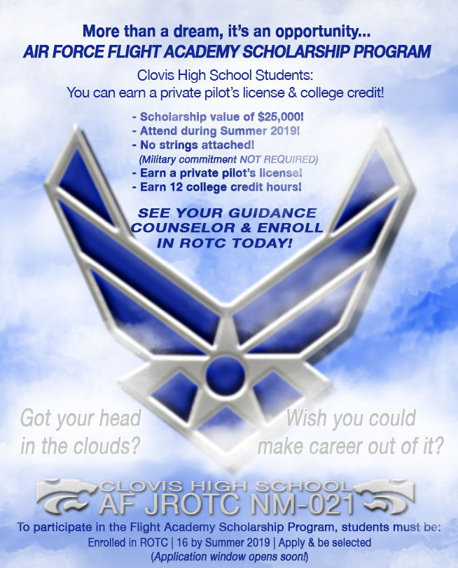 Image of Air Force symbol with text