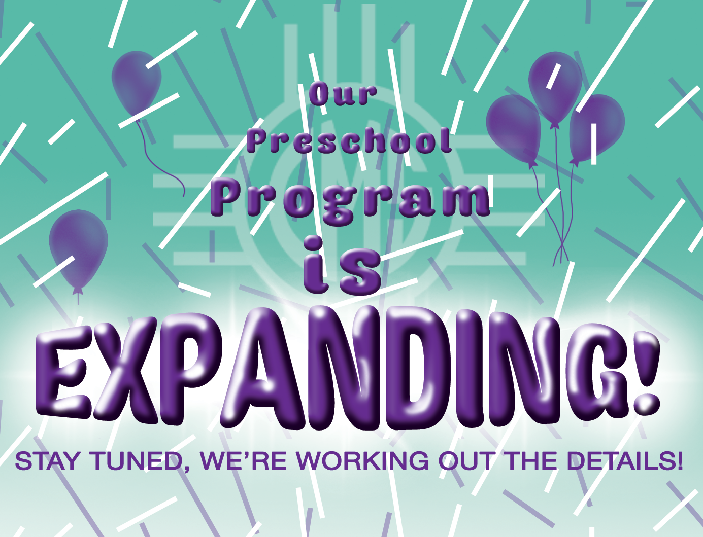 Image with text announcing funding for preschool expansion