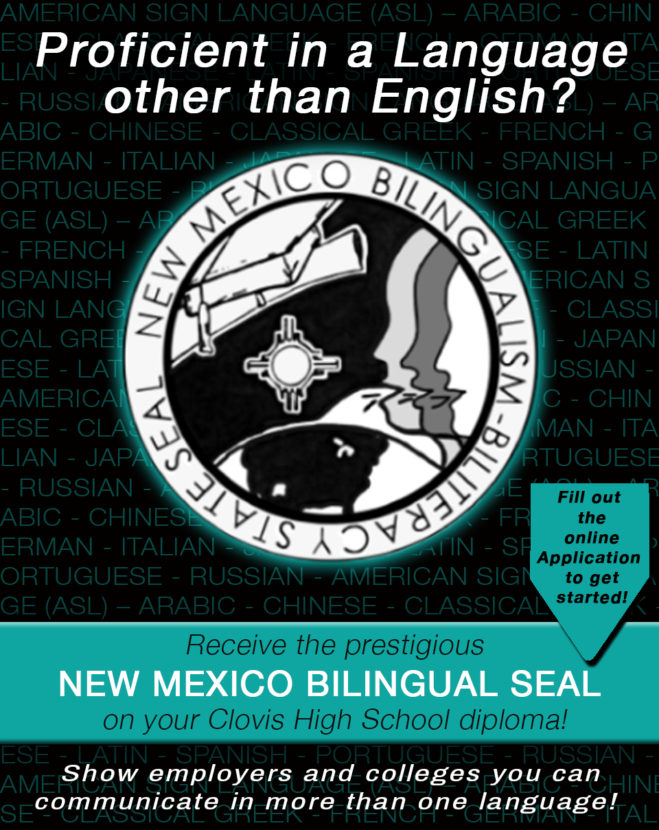Image of text announcing NM Bilingual Seal Program