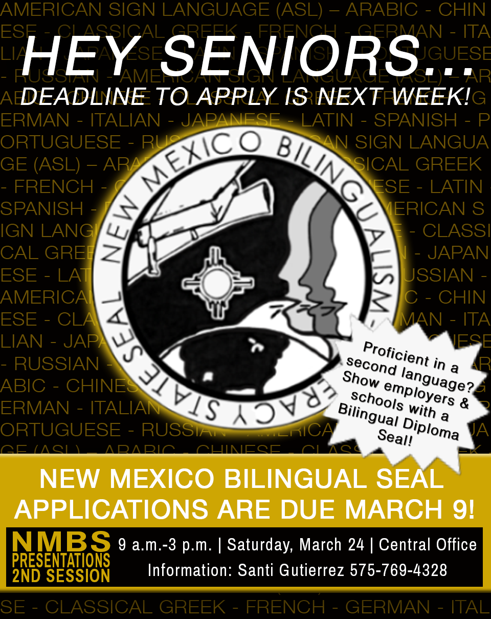 Image announcing bilingual seal deadline