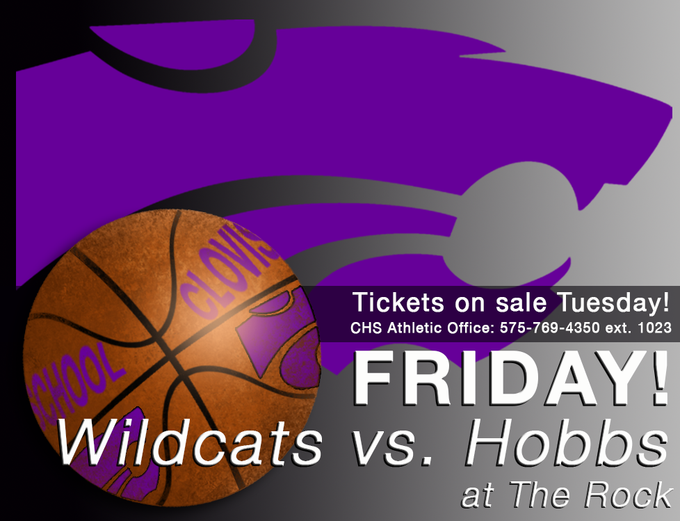 Image of Wildcat Basketball with text