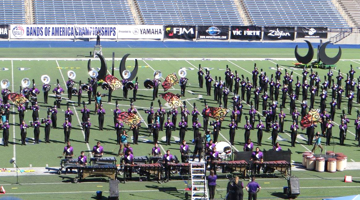 Image of CHS band performing at the Bands of America competition, October 14
